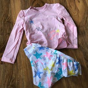 Koalakids mermaid 2 piece bathing suit-12/24m💗
